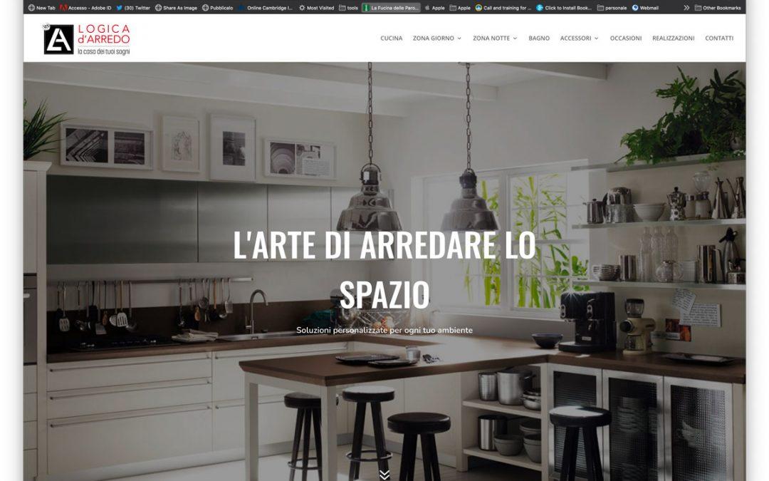 restyling logo e sito per Logica d'Arredo
